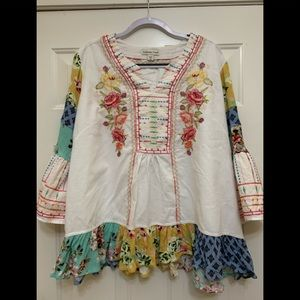 Coldwater Creek embroidered tunic size 2XL